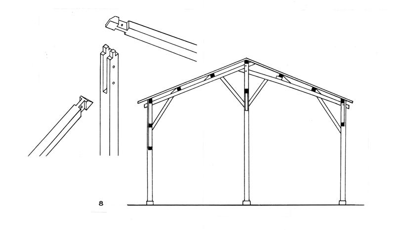 Hangar Bois Plan : Une technique de charpenterie supra-rgionale : la charpente poteaux de