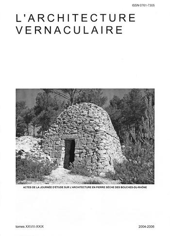 annonce du tome 28 29 de l 39 architecture vernaculaire