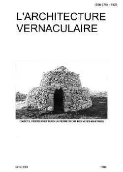 Sommaire tome 22 de l 39 architecture vernaculaire for Architecture vernaculaire