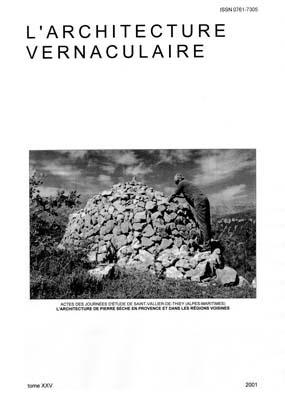 Annonce de parution du tome 25 de l 39 architecture vernaculaire for Architecture vernaculaire