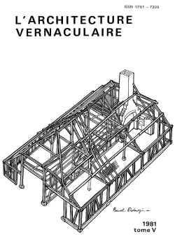 S rie tomes annuels de l 39 architecture vernaculaire for Architecture vernaculaire