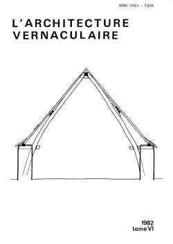 Sommaire tome 6 de l 39 architecture vernaculaire for L architecture vernaculaire