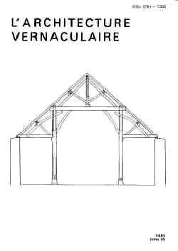 L Architecture Vernaculaire Of Sommaire Tome 7 De L 39 Architecture Vernaculaire