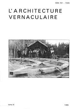 Sommaire tome 9 de l 39 architecture vernaculaire for Architecture vernaculaire