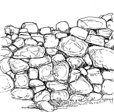 la structure du mur de sout nement en pierres s ches christian lassure michel rouvi re. Black Bedroom Furniture Sets. Home Design Ideas